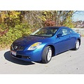 blue nissan altima coupe car