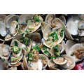Clams steamed in Chinese rice wine (Shaoxing WIne), soy sauce and oyster sauce. With garlic, chil...