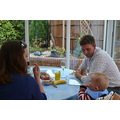 Mum's 89th birthday lunch October 2013  Ralph had demolished the banana and started on the bisc...
