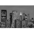 night city building skyline bw nyc perspective architecture