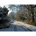 Cornwall Par UK Lane Road Snow