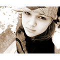 bored, so i tried it in a sepia tone also....  it's so cold here, that they cancelled school......