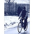 street road fence bike winter frozen ice peoples believer