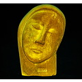 head sculpture digital gold