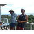 Xmas 2008  Champers & orange juice on the balcony overlooking the ocean at our holiday apartmen...