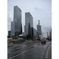 rotterdam weena stationsplein skyscrapers overcast cloudy road buildings holland