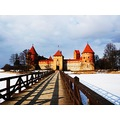 Lithuania Trakai castle winter