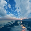 landscape view blue sea beach sun light sky clouds classic dream keitology