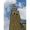 The church tower of Hindeloopen in Friesland, Holland.