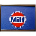 GULF MILF LOGO Tshirt Orange Blue White Copenhagen FUN