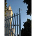 Croatia landscape nature tree sky blue architecture church Primosten