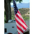A drive thru the campgrounds at Rye Patch Reservoir, revealed only 2 flags flying for the Memoria...