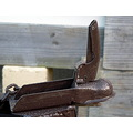 coupling tow trailer brown closeup old