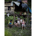 Me with penan kids and family.