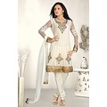 White Net Wedding Salwar Kameez _commercial