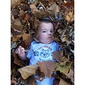 grandson MAD in leaves