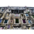 windows abstract old house building architecture colours croatia labin
