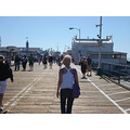 My friend Xenia walking on the Santa Monica Pier