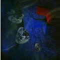 surrealism dream blue dark landscape red chair series art abstract keitology