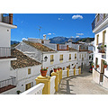 andalucia spain white houses village street