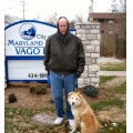 stlouis missouri us usa travel blue brown white winter winter2005 me Roxy dog