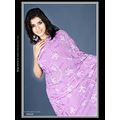 Violet Georgette Saree with Blouse