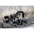 london graffiti stencil art camera banksy