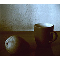 still life wall table pears mug shadows light samsung c3300k mobile