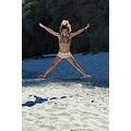 leap jump fun summer beach girl woman wife portrait varna bulgaria nikon