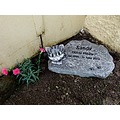 cat pet memorial grave headstone