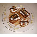 Goat cheese anchovys