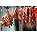 Drying smoked duck, ham and sausages. January 2nd, 2014  My neighbour is preserving her meat fo...