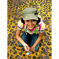 portrait girl mexico puebla stones yellow smile