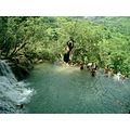 waterfall swing Laos water