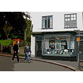 0148 Manipulated Cornwall Fowey Street Road People Shop UK