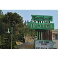 weed california signs motel