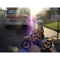 dirtbike boy sunset motorcross