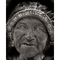 BW Old Woman Portrait
