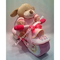 pink motorcycle diaper cake cakes baby shower gifts