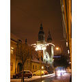 sibiu winter medieval architecture city cityscape street church romania
