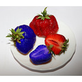 strawberries blue red