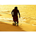 soccer beach man gold mexico acapulco