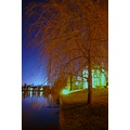 nightphotography landscape river tree sky