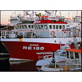 boats ship ships harbour red reykjavik christmas fishing vessel busy