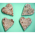 Scottish Oatcakes (Made in China by 'dinner' this morning. The heart shape is not traditional, bu...