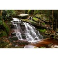 waterfall forest nature country wilderness mountains