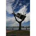 Melbourne Docklands Cow in a tree
