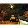 Fullmoon First Snow Kvidinge Skane Sweden 2012 November 30