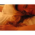 Woman hair sleep