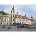 sibiu romania old medieval town cityscape panorama europe east